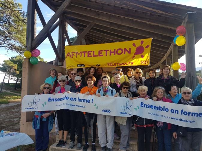Marche solidaire de l'EPGV à Ajaccio, Bastia et Calvi pour le Téléthon