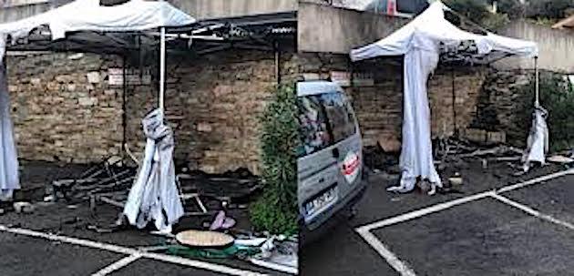 Petranera : un stand de produits italiens brûlé dans la nuit