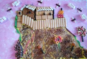 """Oeuvre n°3 """" Citadelle da Manghja"""" - Ecole Maternelle Porette - Mme Antonetti"""