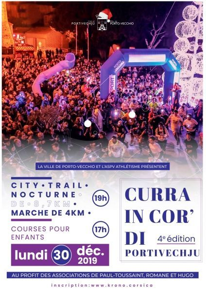 City trail : la 4e édition de Curra In Cor' di Portivechju le 30 Décembre