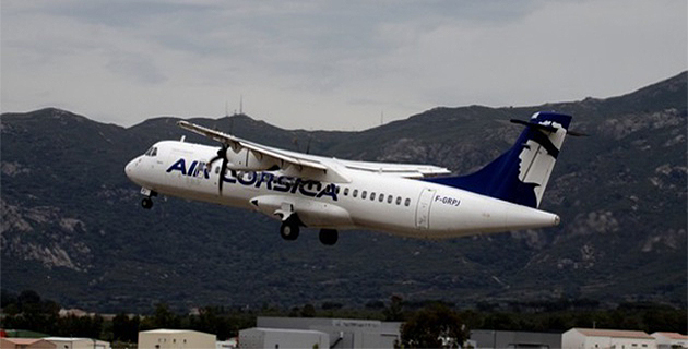 L'aéroport d'Ajaccio après les inondations :  Air Corsica effectue un vol d'essai