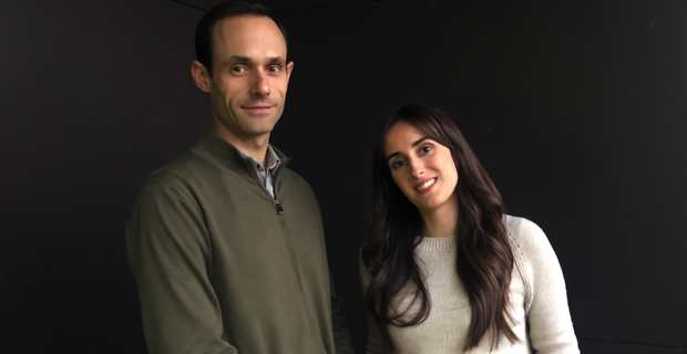 Ghjuvan'Carlu Simeoni, directeur général et gérant financier de FemuQuì Ventures, et de Marie-Cécile Paoli, chargée des investissements.