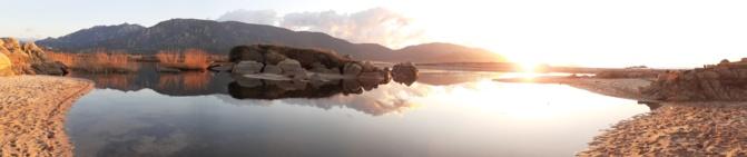 La photo du jour : coucher de soleil à l'embouchure du Rizzanese