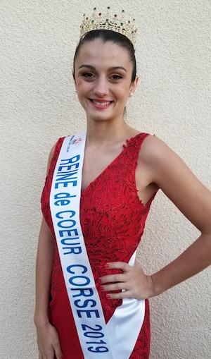 Angélina Scaniglia, Reine de Cœur Corse 2019, candidate au titre de Reine de Cœur France.