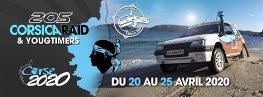 1ère édition du Corsica Raid : les 205 Peugeot débarquent en Corse
