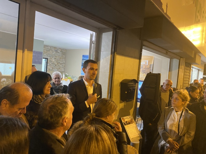 VIDEO - Municipales à Bastia : Julien Morganti inaugure sa permanence