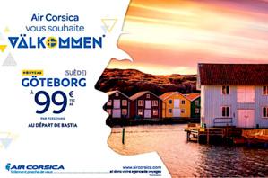 Bastia-Poretta : Air Corsica met le cap sur Göteborg et la Suède dès le 25 avril