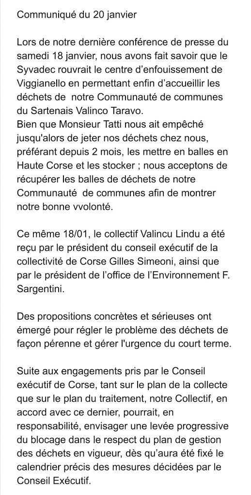 """Déchets. Frédéric Larigi (Valincu Lindu) : """"Le plan esquissé par la CdC nous aidera à sortir de la crise"""""""