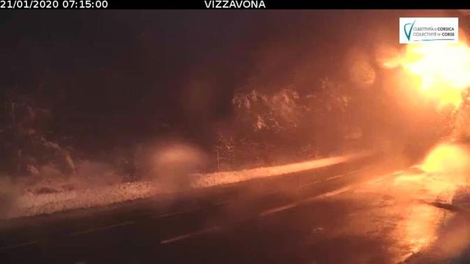 Intempéries : la circulation reprend normalement  au Col de Vizzavona