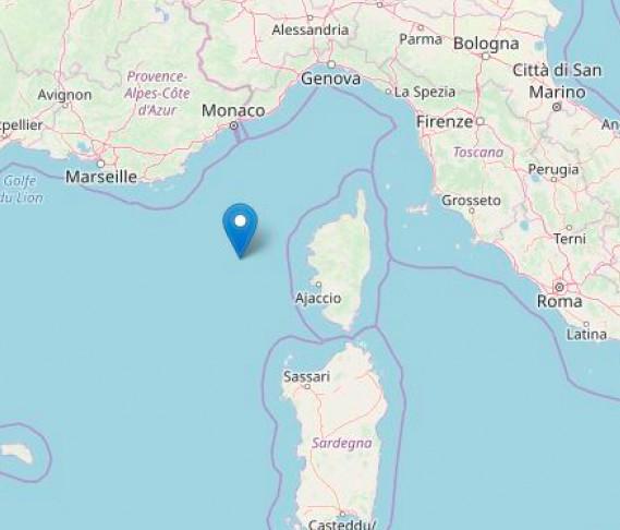 Un léger séisme de magnitude 3,7 enregistré au large de la Corse