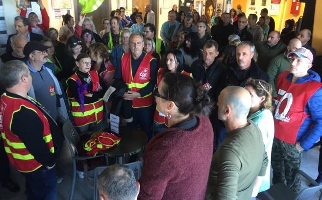 Chantal Risticoni pour la CGT a réclamé une nouvelle fois la modernisation de l'hôpital de Bastia