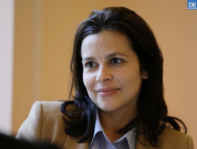 """Valérie Bozzi, maire sortante de Porticcio et présidente du groupe LR """"La Corse dans la République"""" à l'Assemblée de Corse. Photo Michel Luccioni"""
