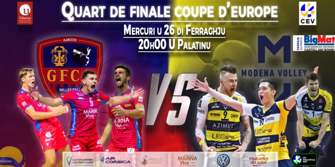 Coupe d'Europe CEV de volley-ball : ce 26 mercredi le GFC Ajaccio accueille Modene