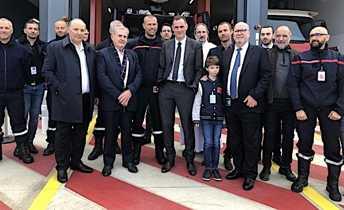 La nouvelle caserne SSLIA, destinée à la lutte contre les incendies de l'aéroport de Poretta, a été inaugurée ce mardi 25 février.