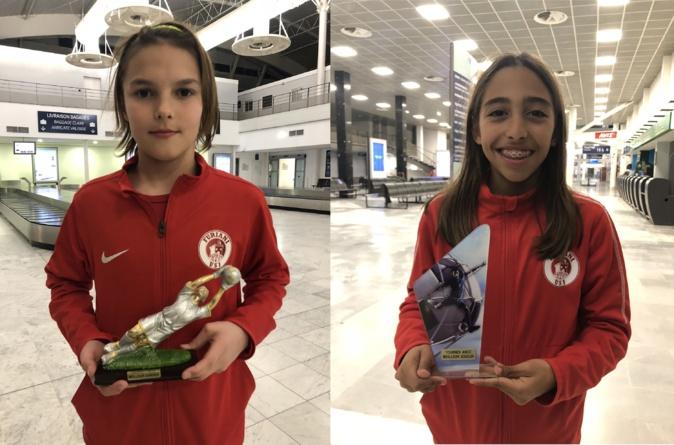 Marc Bernardini, meilleur gardien et Ilyes El Mahi, meilleur joueur du tournoi.