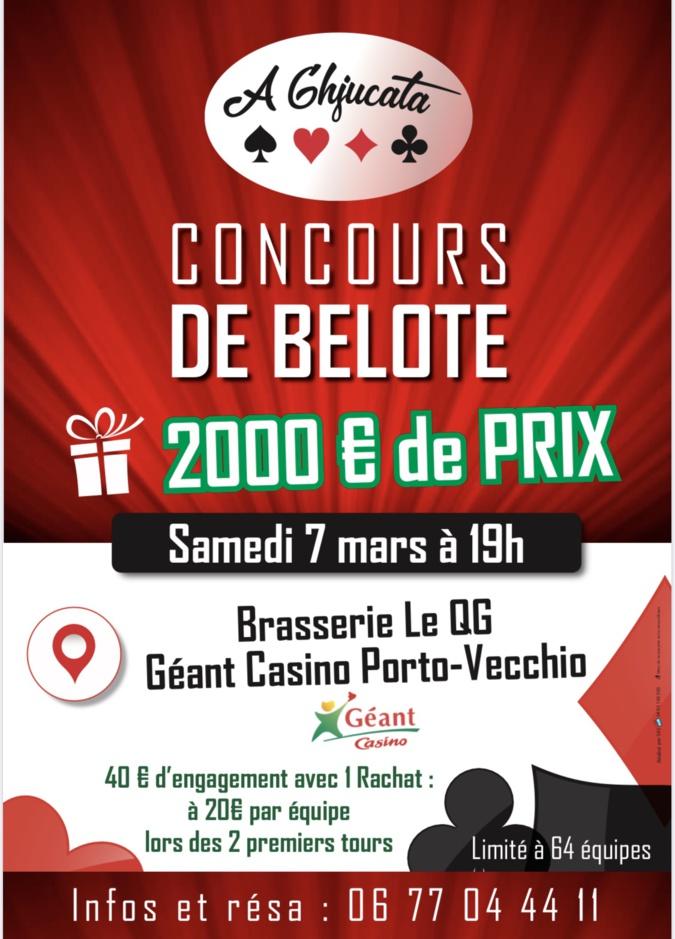 Belote : Un concours le 7 mars au QG à Porto-Vecchio