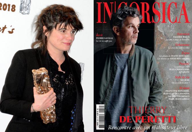 Marie-Ange Luciani avec le César de 120 BPM et Thierry à la Une de InCorsica