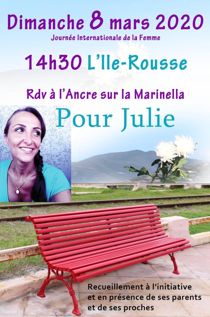 """Ce banc rouge installé sur """"A Marinella"""" sera inaugurée le dimanche 8 mars, journée de la femme"""