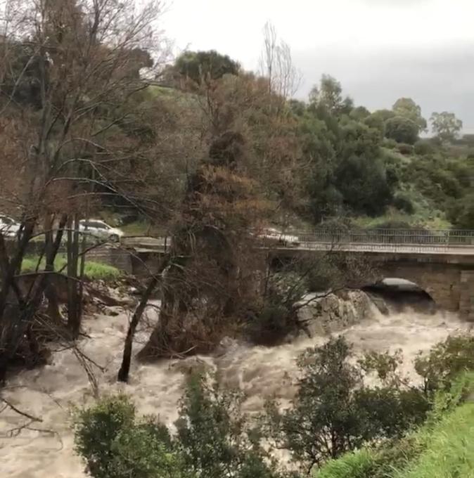 Ucciani : un ruisseau déborde et bloque la circulation sur la RT20