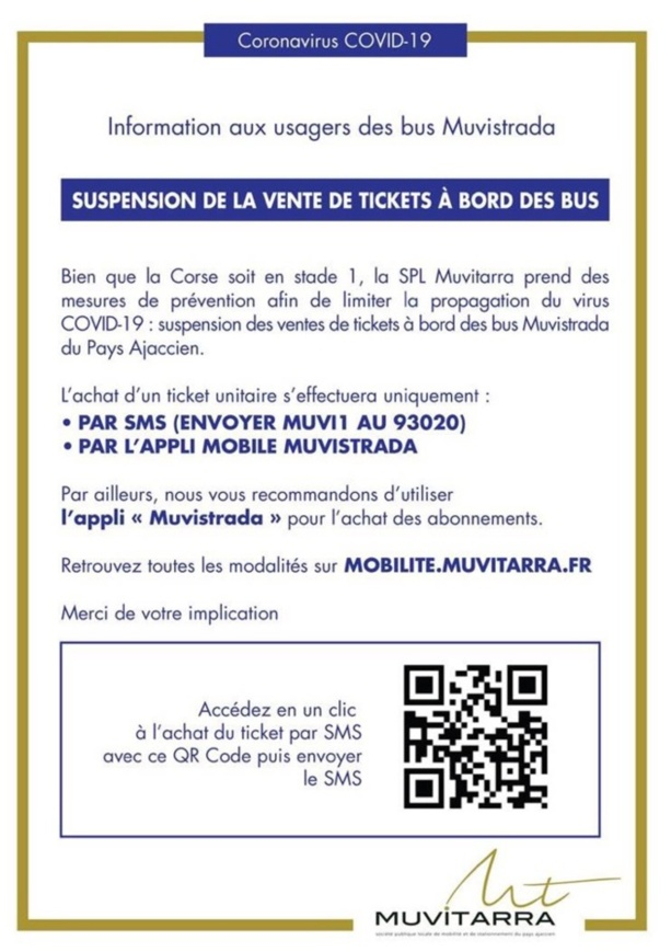 Ajaccio : suspension de la vente de tickets à bord des bus