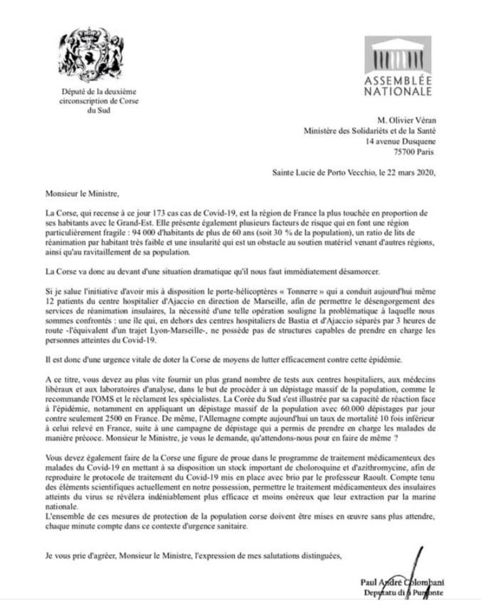 Coronavirus : La Corse veut intégrer le programme du traitement à la chloroquine du Pr Raoult