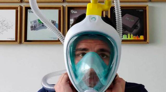 Coronavirus. En Italie le masque de plongée Decathlon se transforme en respirateur