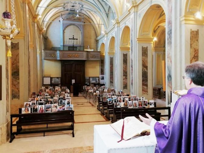 Le père Guiseppe Corbari, prêtre de la paroisse de Robbiano (crédit photo G.Corbari)