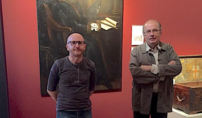 Malgré le confinement, Sylvain Gregori, directeur du musée et Philippe Peretti, adjoint au maire de Bastia, délégué au patrimoine, préparent la nouvelle exposition temporaire !