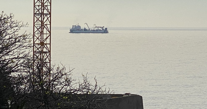 "Le ""cable enterprise"" au large de Bastia"