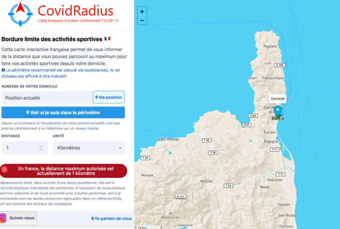 CovidRadius : l'appli qui vous permet de sortir sans dépasser le kilomètre autorisé