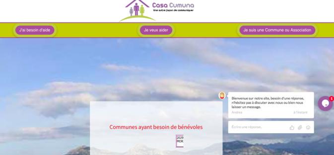 Casacumuna : face au confinement, une plateforme d'entraide en ligne lancée en Corse