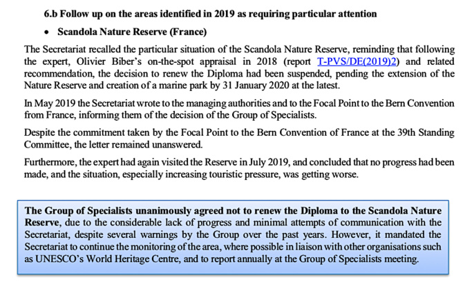 Le rapport qui condamne Scandola