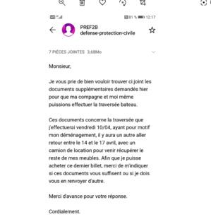 Covid-19 -Un jeune couple privé de déménagement entre Corse et continent