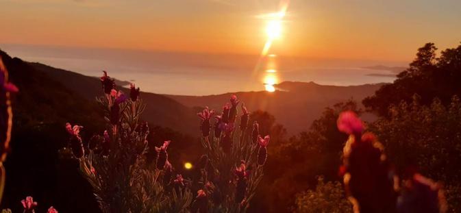 La photo du jour :  lorsque le Soleil descend sur Tiuccia