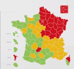 Covid -19 : La Haute-Corse en rouge sur la carte des départements
