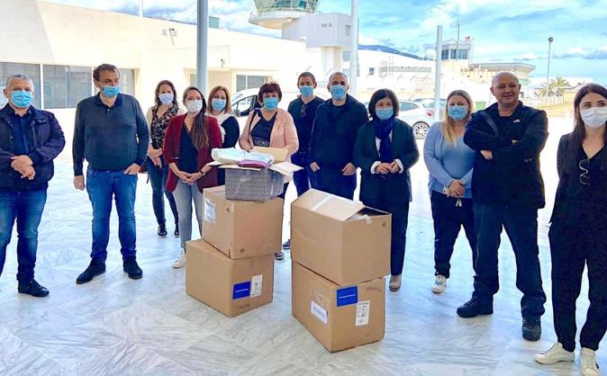 40 000 masques, 4 000 blouses, des visières et du matériel médical réceptionnés à Figari