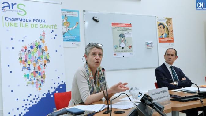 Marie-Hélène Lecenne, directrice générale de l'ARS de Corse et Franck Robine (Photo Michel Luccioni)