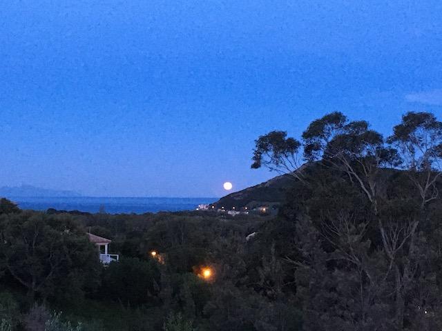 Lune devant le Castellare ! Photo  F. Brulet Multedo