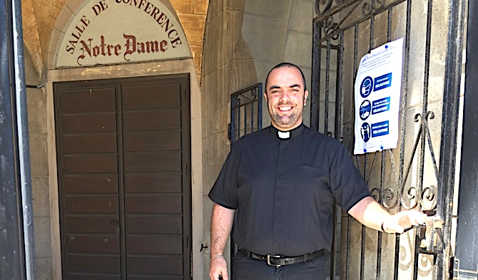 Dès ce dimanche, le père Georges Nicoli va retrouver ses fidèles en son église de ND de Lourdes