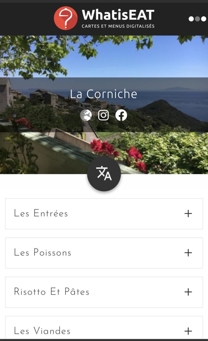 Covid-19 : Des menus digitaux pour les restaurants corses