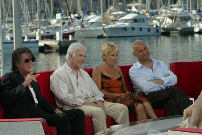 """éVivement dimanche"""" avec Jacques Dutronc, Dominique de Lacoste et Michel Fugain (collection GGuizol)"""