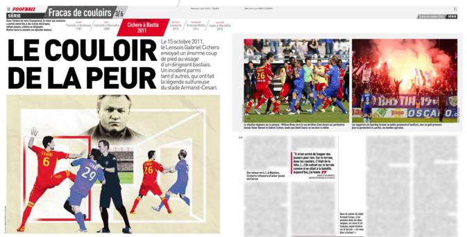 Double page sur le Sporting dans L'Equipe