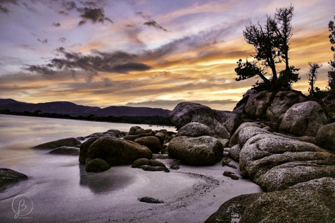 La photo du jour : coucher de soleil sur la plage de Santa Ghjulia