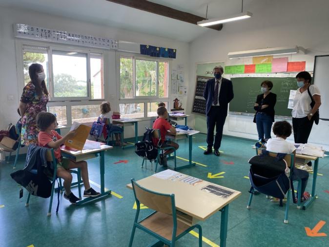 Furiani : retour à l'école pour 21 élèves de U Rustincu. Près des 2/3 écoles de Corse bientôt ouvertes