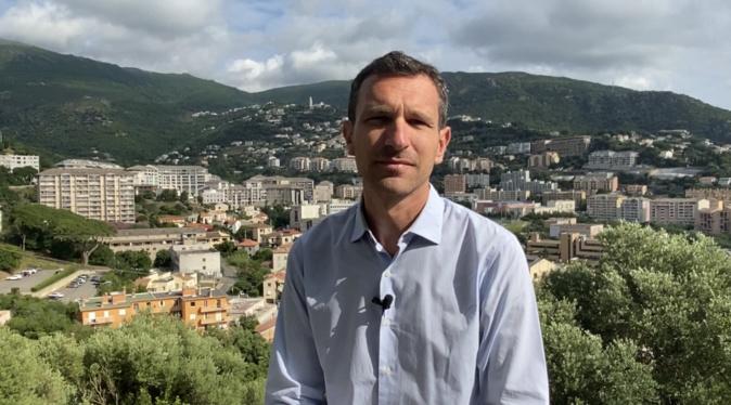 Julien Morganti, candidat à la mairie de Bastia.