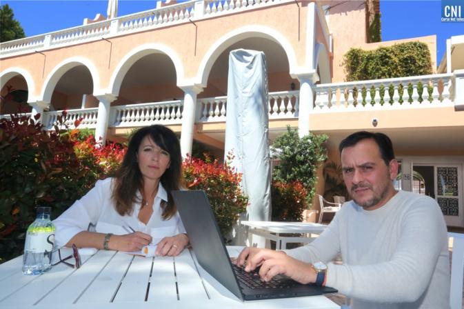 Carole Ottavy, gérante de l'hôtel « Le San Carlu » et présidente de l'association et Jean-Baptiste Pieri, propriétaire de l'hôtel « Les Mouettes. Photo Michel Luccioni