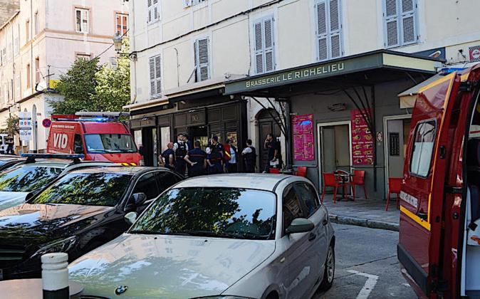 Bastia : déploiement de forces de police boulevard De Gaulle