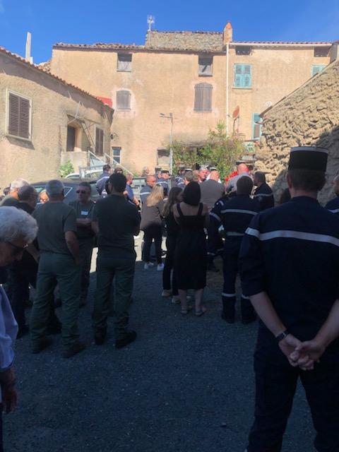 À Vallica l'hommage des pompiers à l'adjudant Bruno Luigi