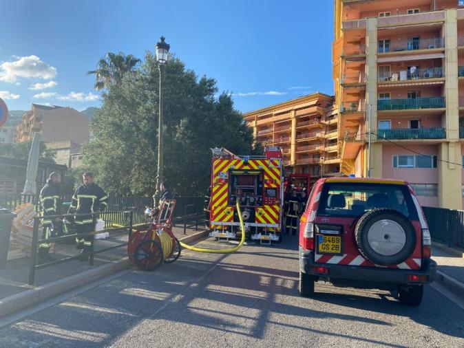 Bastia : une maison brûle au Fangu