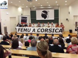 Les nationalistes modérés réunis à Corté pour parler institutions.